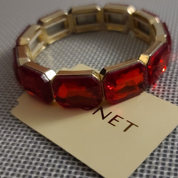 Monet red crystal style bracelet